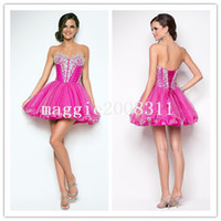Reference Images Sweetheart Organza Georgeous 2014 Ball Gown Sheer Corset Bodice Tulle Short Mini Sweetheart Sequins Beaded Lace Up Prom Evening Party Cocktail Dress