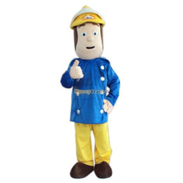 Wholesale Fancytrader Fireman Sam Mascot Costume Character Mascot Costume for Halloween Birthday Party FT20093