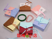 Wholesale 9 cm bow jewelry paper packaging box gift bracelet jewelry box