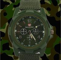 al por mayor reloj del ejército suizo deporte militar-La nueva manera de Deportes de moda reloj de pulsera de análogos de lujo del estilo militar para el reloj de la correa de lona de los hombres 3color Swiss Army Gemius Relojes reloj de cuarzo