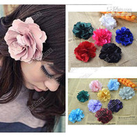 Barrettes Blending Dot 15pcs Very cute Arrivals Hair Jewelry Accessories Camelia Flower Hair Clip Fabric df ds