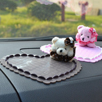 Cheap Bear doll silicone car mat oversized vehicle mobile magic stick mat lovely auto supplies
