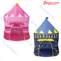 Cheap 2SETS LOT Children Playing Indoor & Outdoor Toy Tent blue and pink colors game house baby toys house 7378