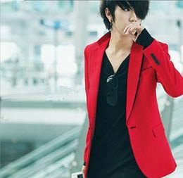 Wholesale Korean New men suit blazer Red blazer casual male slim blazer men s clothing