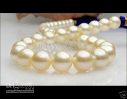 "south sea 19"" 12-13mm round white south sea pearl Necklaces 14k"