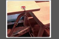 Wholesale Fashion Portable Rock Crystal Mirror Folding Bag Hook Purse Hook Hanger Holder