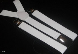 10pcs#White Adjustable Clip-on Unisex Brace Suspender Superior Y Back Style Suspenders 9 Colors Available DCE6*10