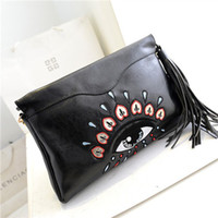 personalized bags - Bags spring big eyes personalized one shoulder cross body women s tassel handbag envelope bag evening bags and clutches