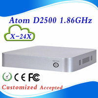 Wholesale Good price Intel Atom D2550 X X no ram no ssd no wifi pc desktop atom network computer thin client support USB2