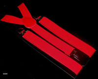 Wholesale 10pcs Red Adjustable Clip on Unisex Brace Suspender Superior Y Back Style Suspenders Colors Available DCE9
