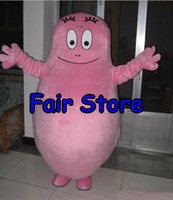 barbapapa cartoon - Best Price pink BarbaPapa Mascot Costume Lovely Barba Papa Cartoon Character Adult Mascotte Outfit Suit EMS free Ship