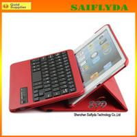 Wholesale 360 degree leather case bluetooth keyboard for ipad air ipad mini free shiping