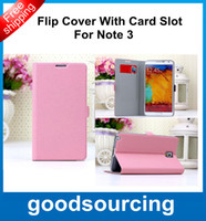 Cheap Lichee Pattern Style Wallet Credit Card Flip Stand Leather Case Back Cover Holster for Samsung Galaxy Note 3 N9000 Note3