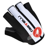 Wholesale Castelli Half Finger Cycling Gloves Skidproof Road Bike Gloves Castelli Bicycle Gloves Silicon Padded Black