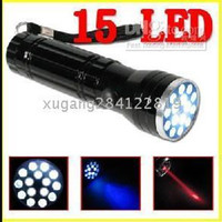 15+1 160lm LED Flashlight 15 LED UV LASER Ultraviolet Flashlight light Lamp Torch