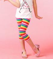Wholesale Korean children s summer rainbow children cotton pant leggings girls