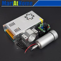 Wholesale 12000 R Min W DC Air Cooled CNC Spindle Motor Mount Bracket Holder Power Supply Speed Regulator Mach3 SM534 SD