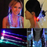 Wholesale Colorful Hair Jewelry Luminous Decoration Flash LED Braid Novelty Pigtail Decoration for Halloween Christmas Party Hair Plait Jewelry cm