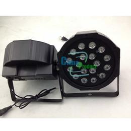 2014 par luz 18 * 3w 9 canales DMX-512 LED PAR64 RGB Led con luz de la etapa profesional por menor de fiesta casa KTV discoteca Factory outlet 000100