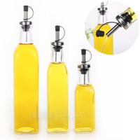 Spice glass bottle olive oil - Kitchenware Glass Oil amp Vinegar Bottle oiler cruet condiment bottles olive oil bottle square oil ML