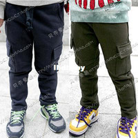 Cheap Wholesale - 2012 autumn cool pocket boys clothing girls clothing baby trousers casual pants kz-0456