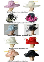Wholesale NEW Design dress wedding bridal organza sinamay hat fascinator for Kentucky Derby Ascot church races by EMS
