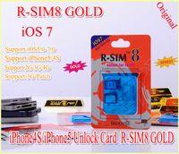 For Apple iPhone gevey 5.0 - Gevey gold R SIM R SIM8 Dual sim unlock for iOS iOS7 iphone iphone s SUPPORT G G RSIM SIM8