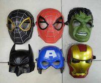 Wholesale EMS Free Iron Man Spider Man Mask Halloween Masks The Hulk Captain America Masquerad Masks Theater Prop Novelty oy Kids Boys Favorite T90089