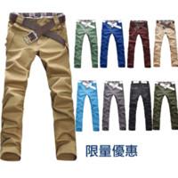 korean men fashion - 10 Color summer lattice stitching men s casual pants Korean high grade boy pants Fashion men s trousers M L XL XXL
