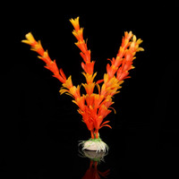 Wholesale Orange Artificial Water Plants Fish Tank Aquarium Decoration Ornament SZ081
