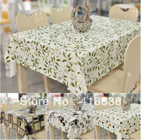 Wholesale X140cm designs PVC Printed flower Tea table cloth Table cloth Dining table Coffee Table cover WS