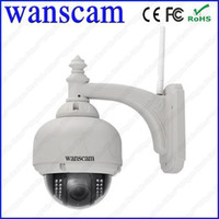 Wholesale A2 Wireless PTZ Pan Tilt x Zoom P MegaPixel HD H IR Cut Outdoor IP Camera HW0028