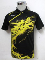Wholesale Li Ning Man s London Olympic Games T Shirt Table Tennis Ping Pong PURPLE RED BLACK