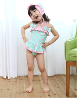baby beachwear kids swimwear girl bikini one- piece child swi...
