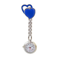 Wholesale 300pcs Unisex Design Doctor Nurse Watch Chest Pocket Watch Nurse Table Warm Sweet Heart Quartz with Clip cute quartz watch