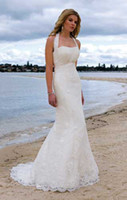 Other Reference Images Halter NWD11 Free shipping!Megan Fox Halter beach wedding dress with long train