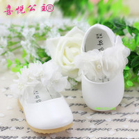 single flowers - Spring Autumn Children Shoes lace flower sweet Infant Shoes Girls Single Shoe Baby first walker Shoes pair TX10