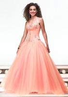 Romantic Puffy Tulle Skirt Embroidery Beaded Floor Length Qu...