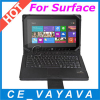 Wholesale BT Keyboard Case Touchpad for Microsoft Surface RT Pro Windows Tab Wireless Bluetooth with folding protective