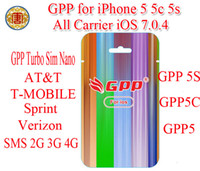 Unlocking Card mobile cdma - GPP S C Turbo Nano Sim Sim Nano For iPhone5 S C S iOS7 IOS CDMA GSM AT amp T T MOBILE Sprint Verizon NETELL DIGITEL ROGER