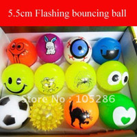 Multicolor bouncing ball - Mixed styles cm flashing bouncing ball PET games ball high bouncing ball fast delivery