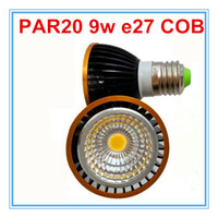 Wholesale 2014 New Arrival PAR20 Led Spotlights COB W E27 E26 GU10 Led Lights Bulb Warm Pure White V Dimmable Or Non dimmable degrees