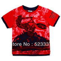 Cheap FREE SHIPPING C1638# kids fashion boys clothes summer 2013 casual T-shirt with printing