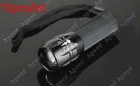 Wholesale 10pcs Adjustable Focus LED Lamp Light Hand Torch zoom mini Flashlight
