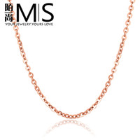 Pendant Necklaces South American Women's 18K rose gold -plated naked single-stranded chain necklace with a chain of fine women titanium steel necklace chain New Year gift