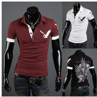 Cheap New arrival The new men's British eagle printed shirts with short sleeve polo shirts size:M-XXL