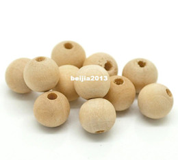 Free Shipping 300pcs Natural Ball Wood Spacer Beads 10x9mm