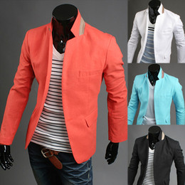 Wholesale New fashion slim fit men thin blazer casual suit male outerwear jacket color