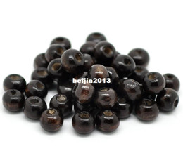 Free Shipping 1000pcs Coffee Round Wood Spacer Beads 8x6mm jewelry making DIY findings hot sale fit bracelet necklace