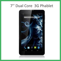 Wholesale 7 Inch g Phablet Android MTK6572 Dual Core GHz MB RAM GB ROM G Phone Call GPS Bluetooth WIFI Dual Camera Tablet PC MQ50